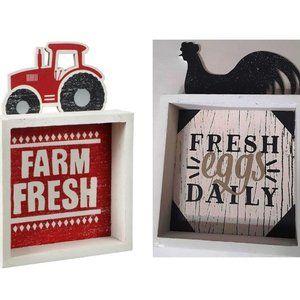 Farm Themed Plaques (2)